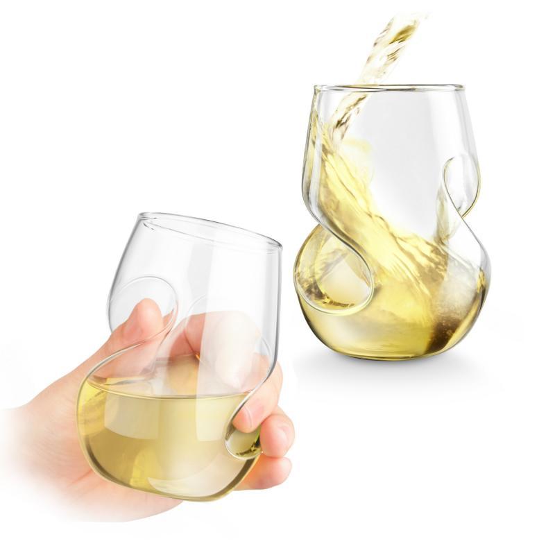 Set 4 pahare vin alb