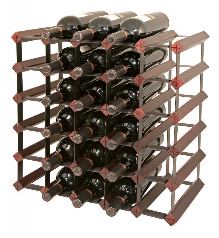 Raft lemn baituit 30 sticle vin