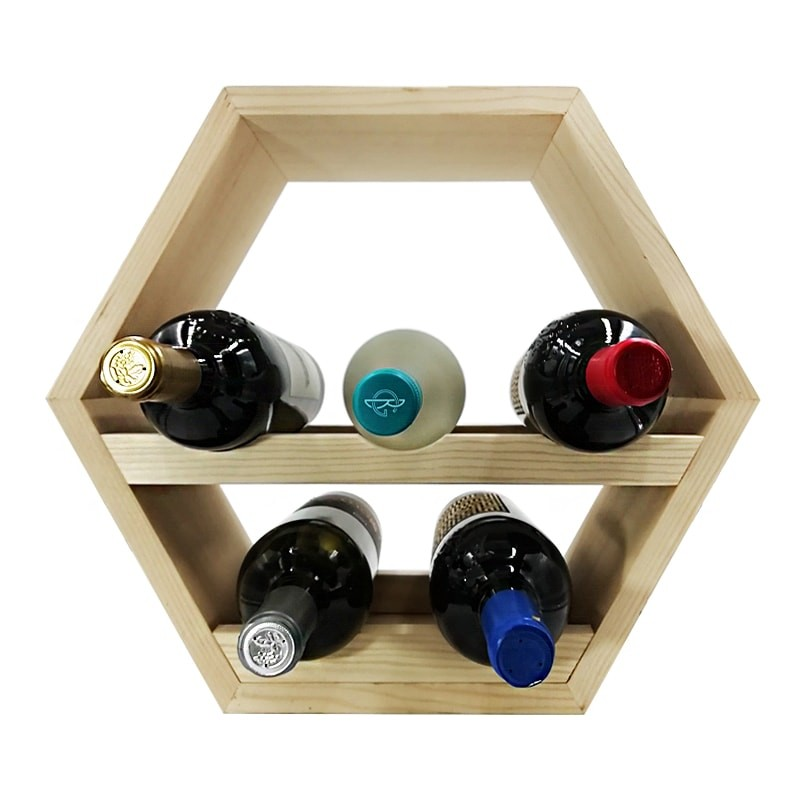 Raft hexagonal 5 sticle vin