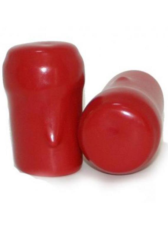 Capison silicon rosu scurt