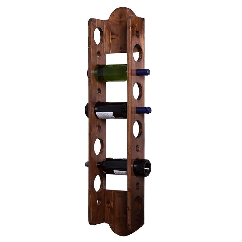 Suport lemn maro 10 sticle vin