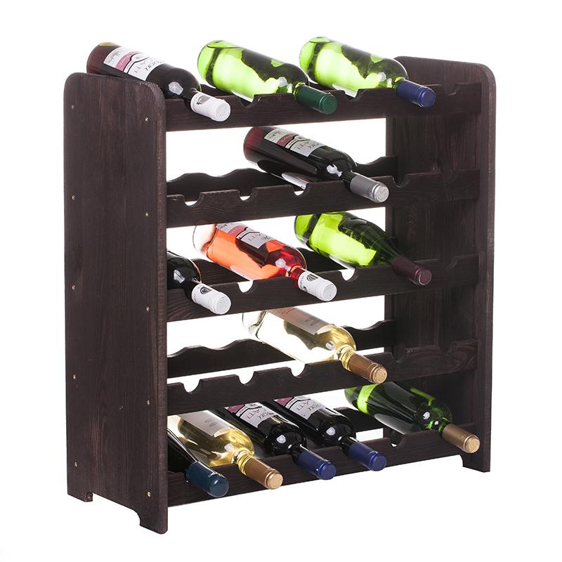 Raft VinStoc negru model 3 pentru 30 sticle