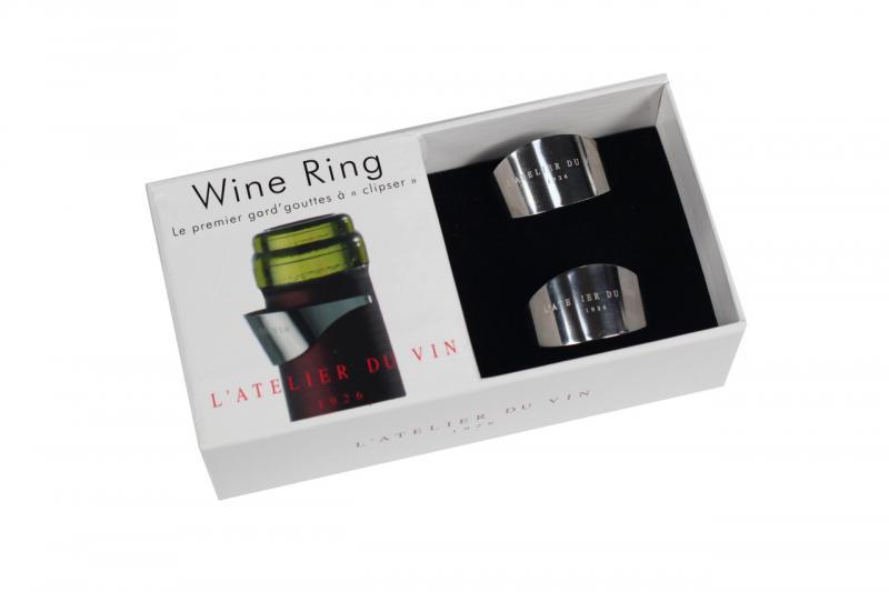 Inel sticla vin argintiu