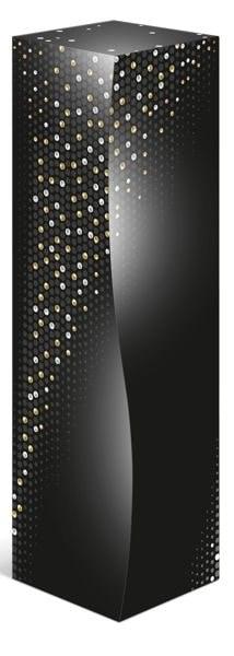Cutie carton neagra Pearls