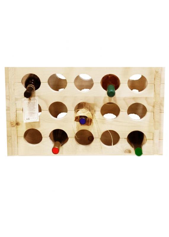 Raft lemn 15 sticle vin Madeira
