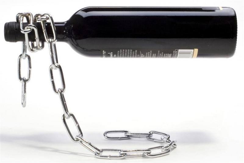 Suport lant sticla vin Silver