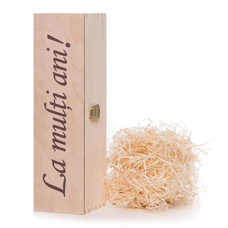 Cutie lemn cu urare