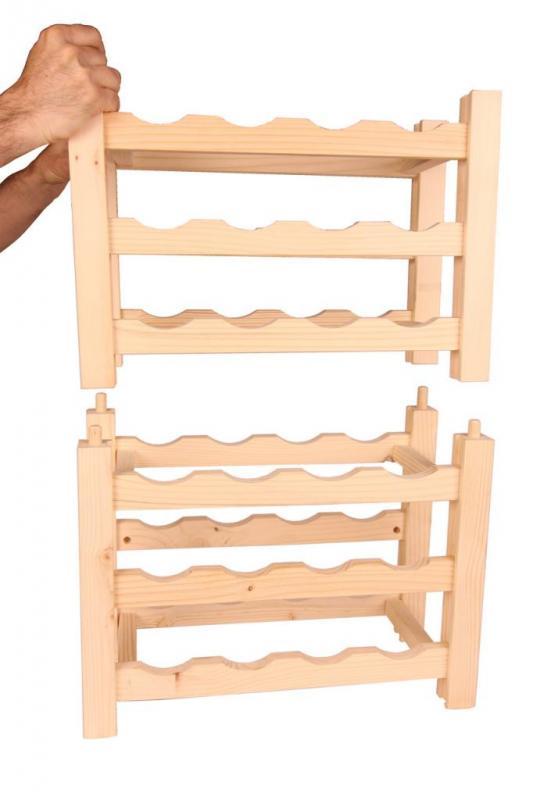 Raft VinO din lemn 3x4 - 12 sticle