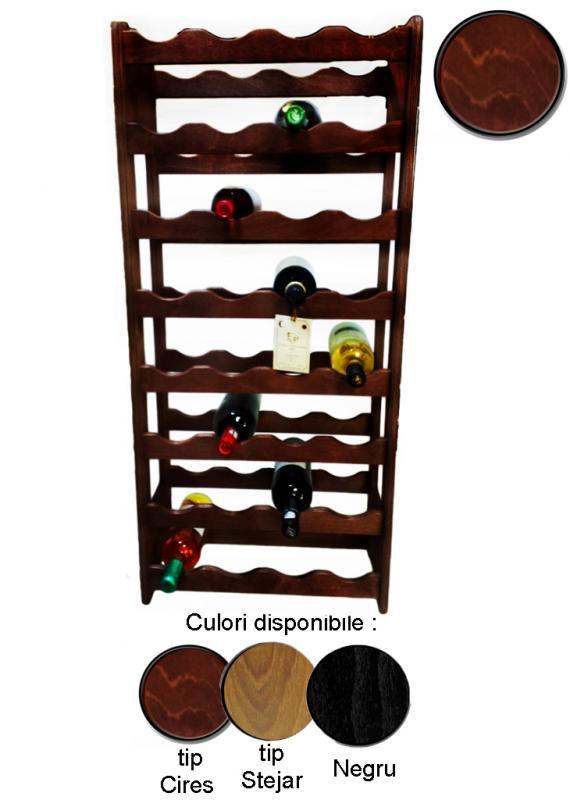 Raft lemn pentru 32 sticle vin