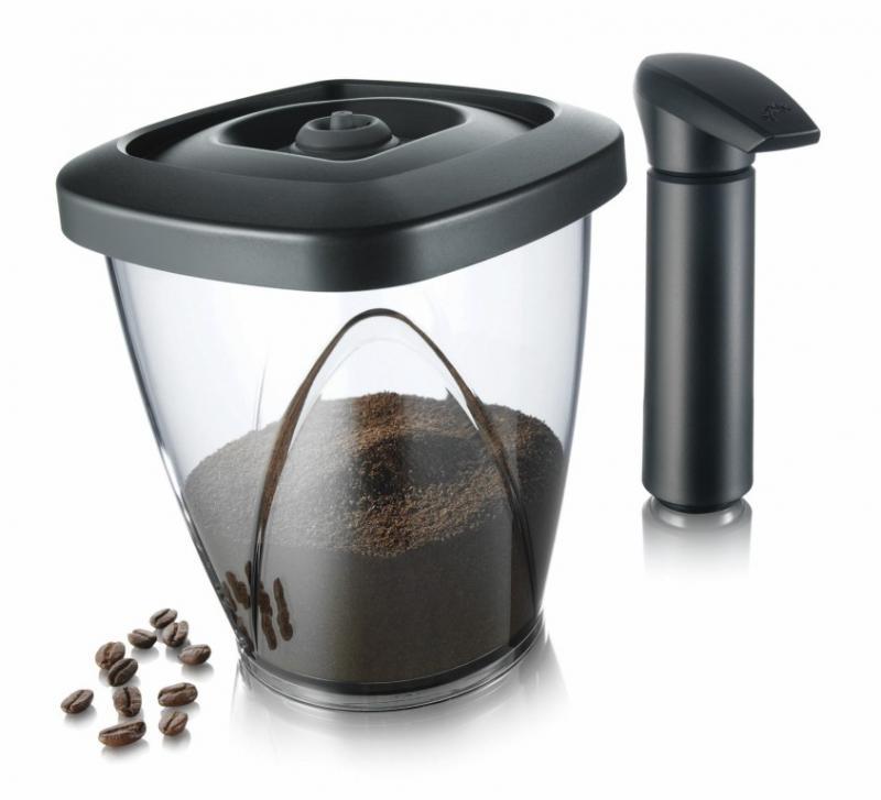 Set recipient cu vidare cafea pentru depozitare si pompa vacuumat