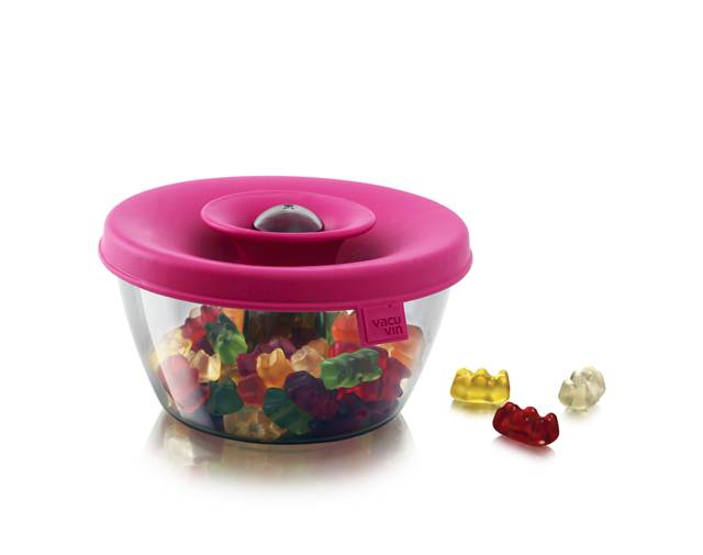 Cutie depozitare bomboane/nuci roz