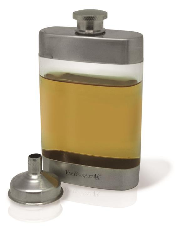 Sticla transparenta cu inox