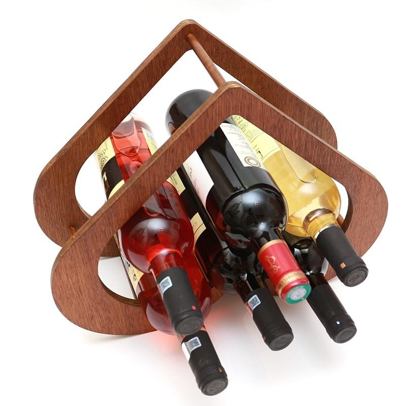 Raft forma inima pentru 6 sticle vin