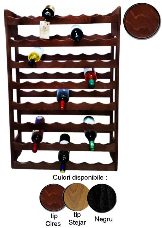 Raft lemn 56 sticle vin