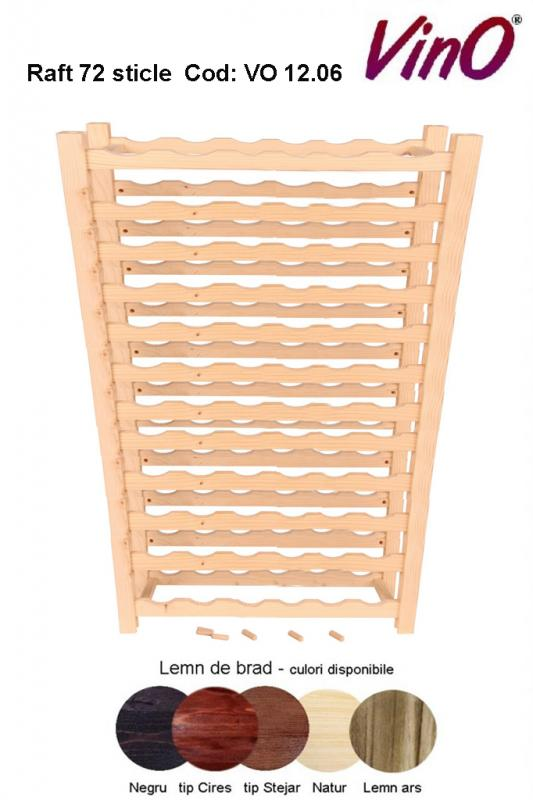 Raft VinO din lemn 12x6 - 72 sticle