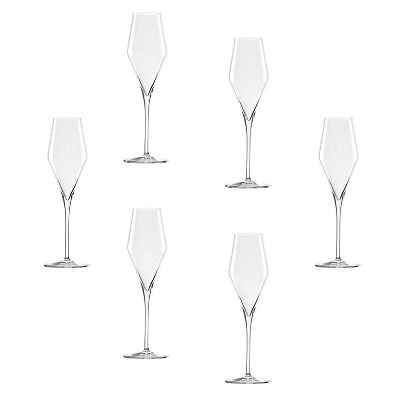 Set 6 pahare Quatrophile pentru sampanie