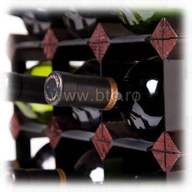 Raft lemn baituit 72 sticle