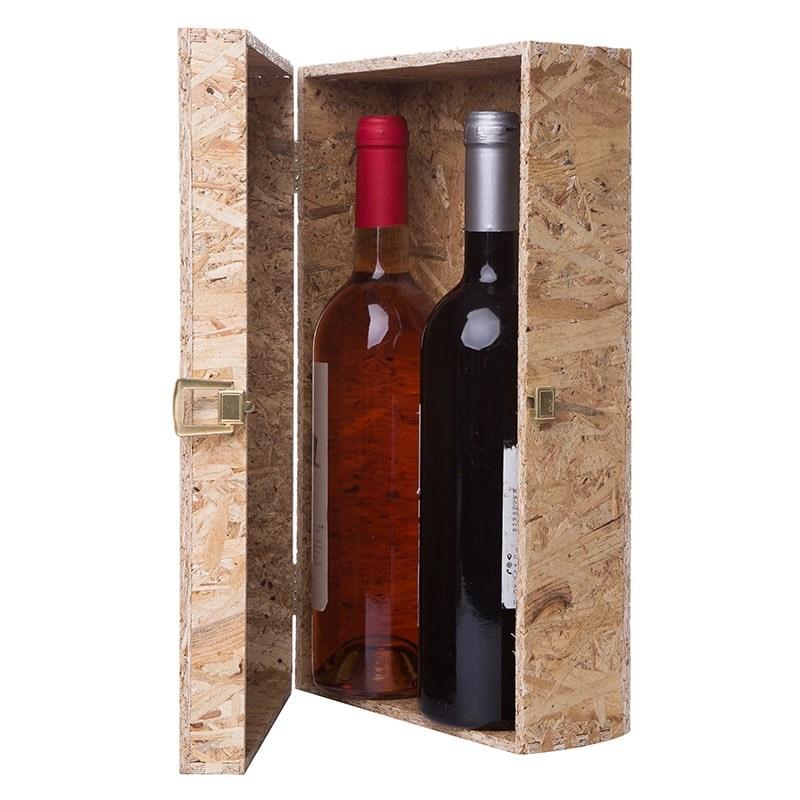 Cutie OSB pentru 2 sticle