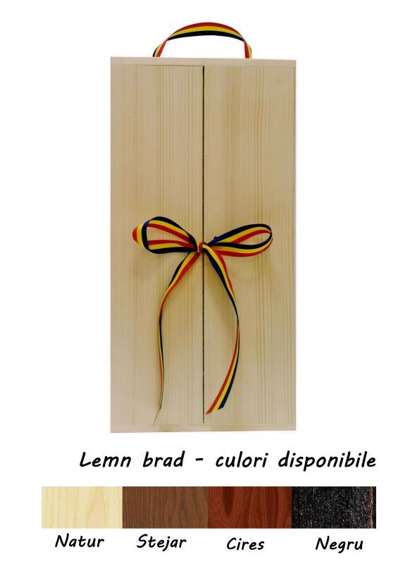 Cutie lemn twin cu doua usi si tricolor