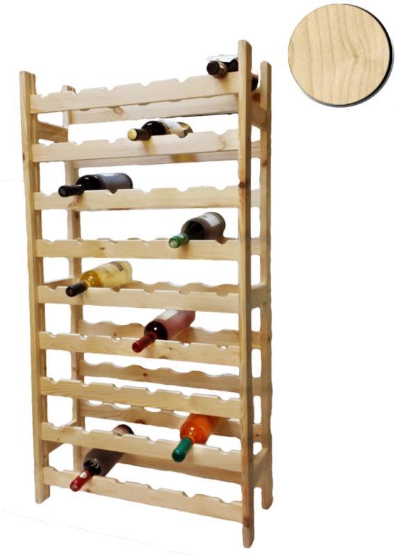 Raft lemn natur 54 sticle vin