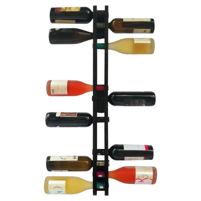 Suport negru 17 sticle vin