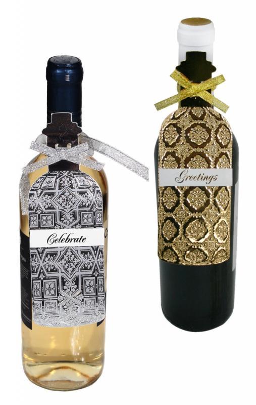 Etichete sarbatori sticla vin