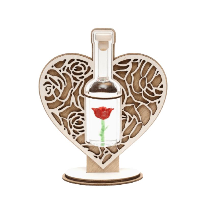 Sticla trandafir cu suport