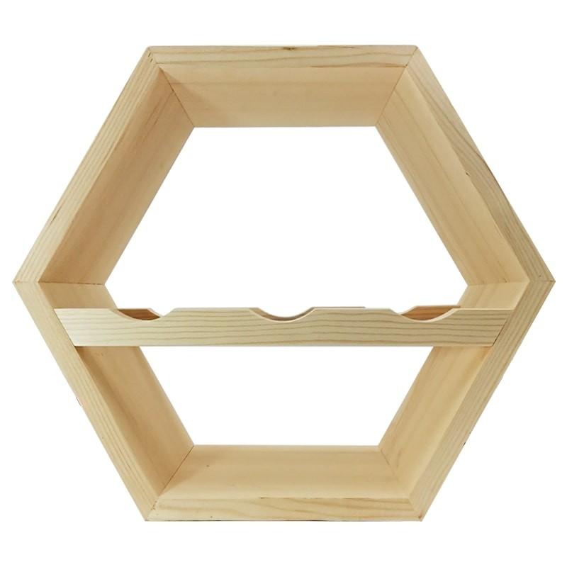 Raft hexagonal 3 sticle vin