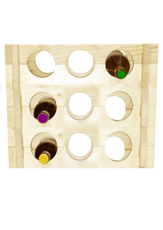 Raft lemn 9 sticle Holz