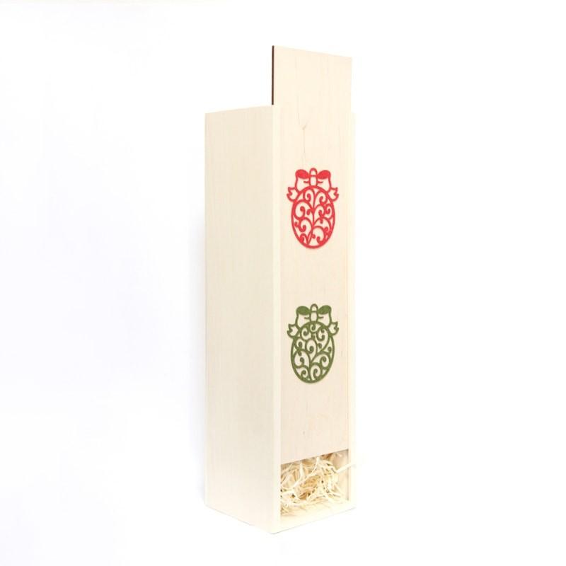 Cutie lemn cu globulete