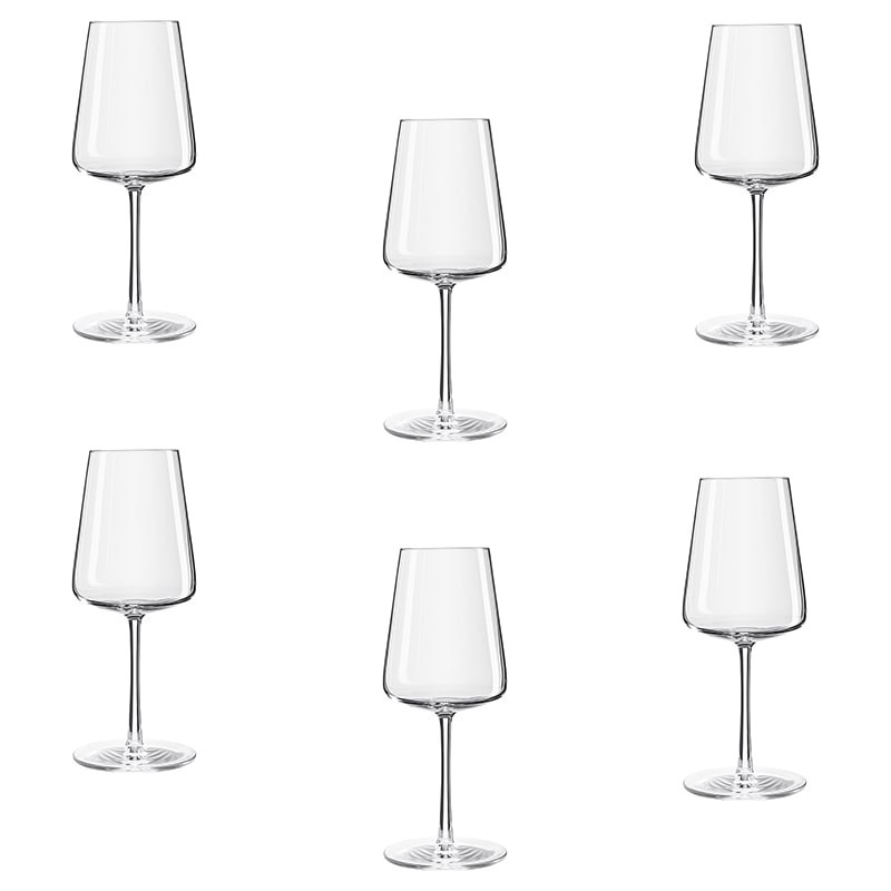 Set 6 pahare Power vin alb