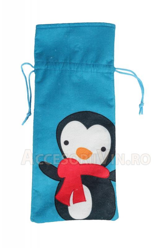 Saculet albastru pinguin