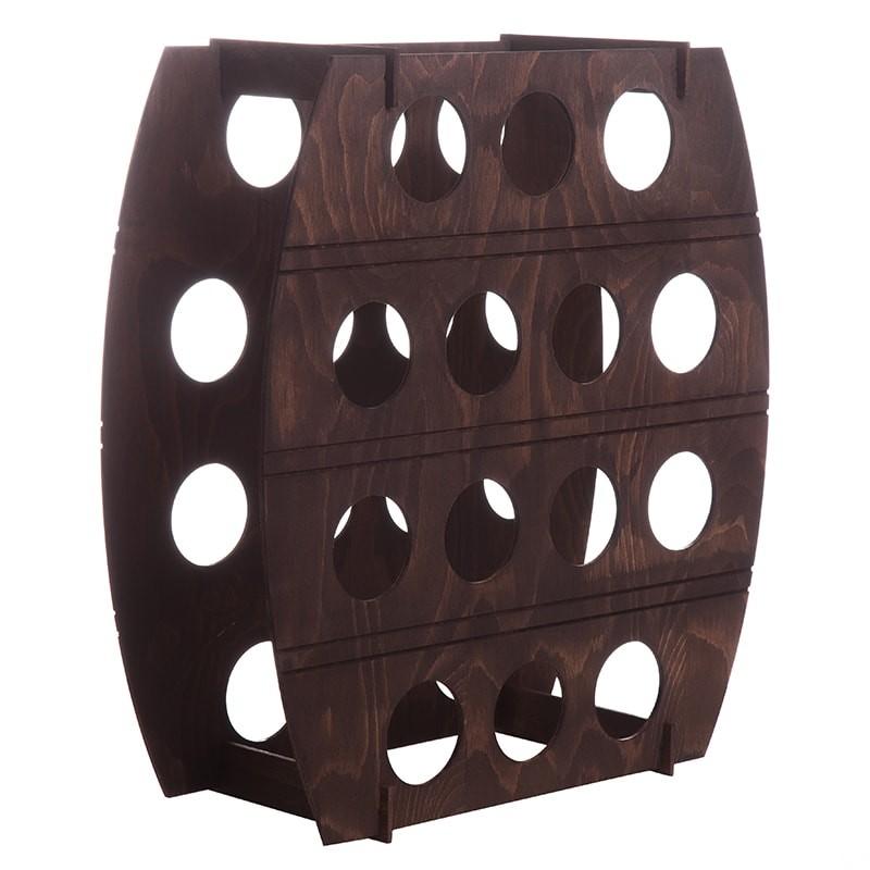 Raft maro tip butoi pentru 14 sticle vin