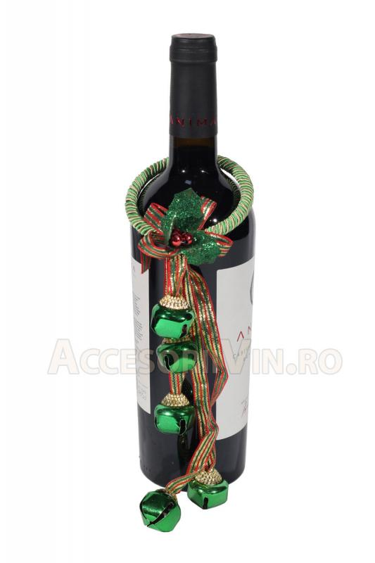 Ornament verde sticla vin