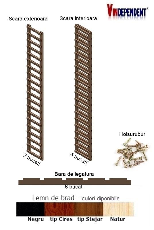 Raft din lemn pentru 100 de sticle