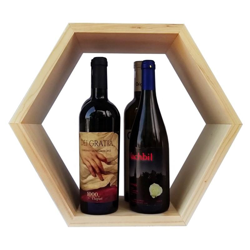 Raft hexagonal 4 sticle vin