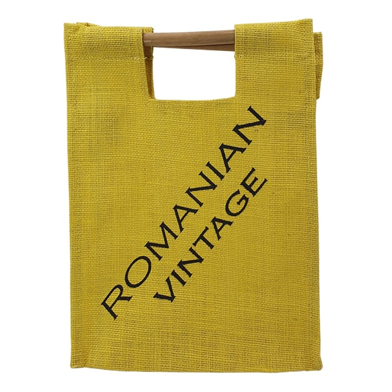 Punga iuta galbena Romanian Vintage
