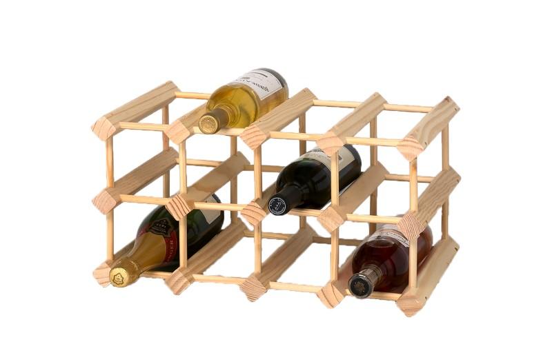 Raft total lemn natur 12 sticle