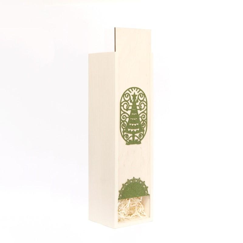 Cutie lemn brad Craciun