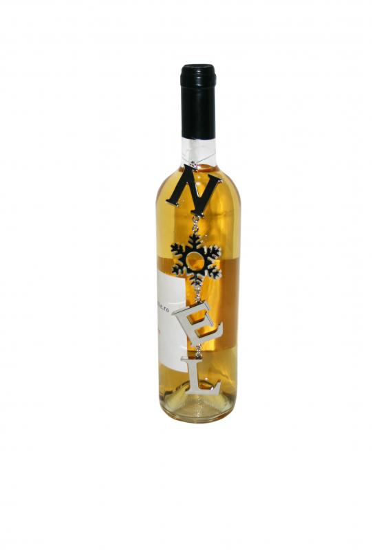 Decoratiune sticla vin Noel