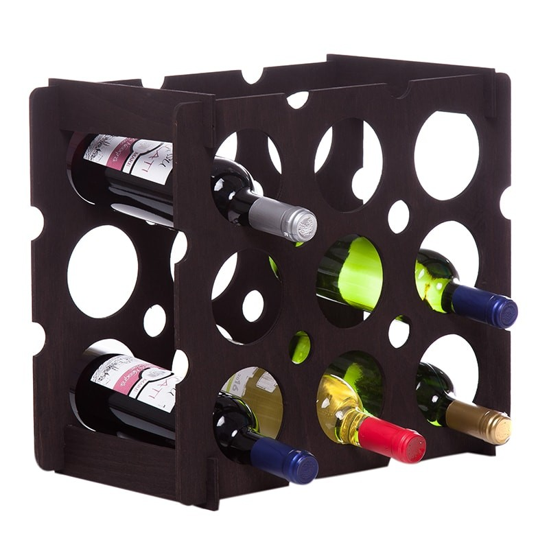 Raft brick negru 9 sticle vin
