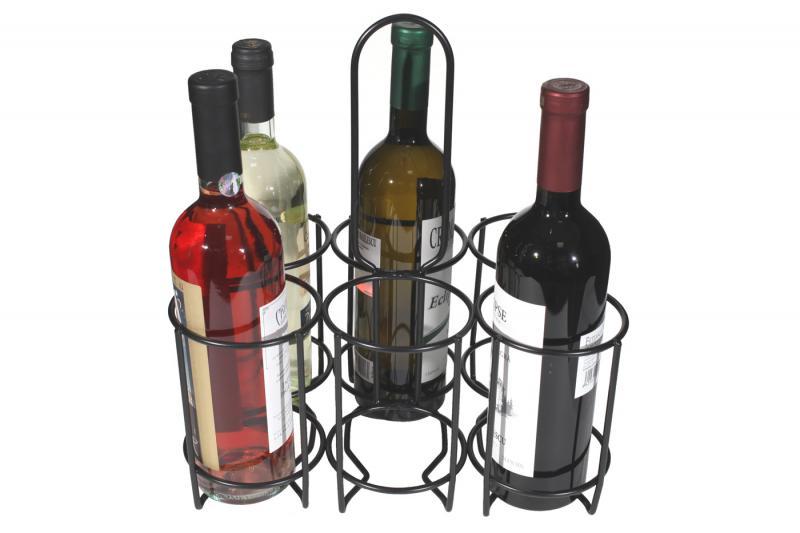 Suport metalic 6 sticle vin