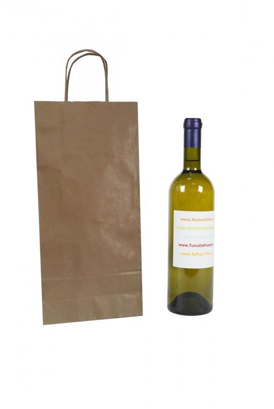 Punga hartie 2 sticle vin
