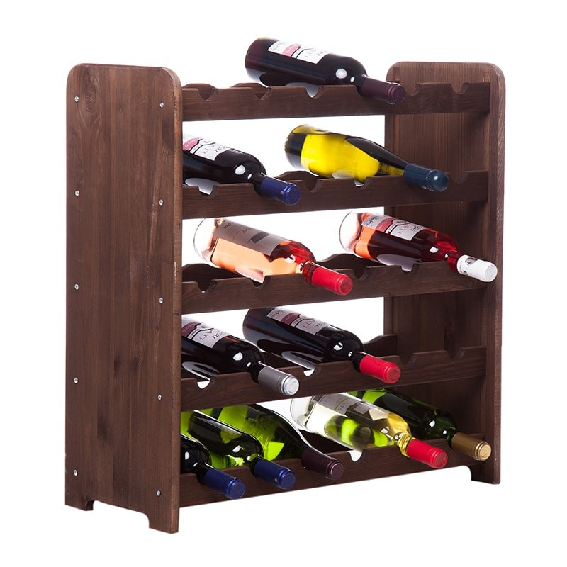 Raft VinStoc maro model 3 pentru 30 sticle