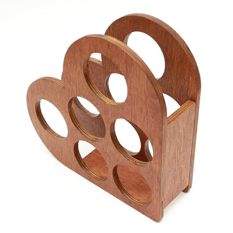 Raft plin forma inima pentru 6 sticle