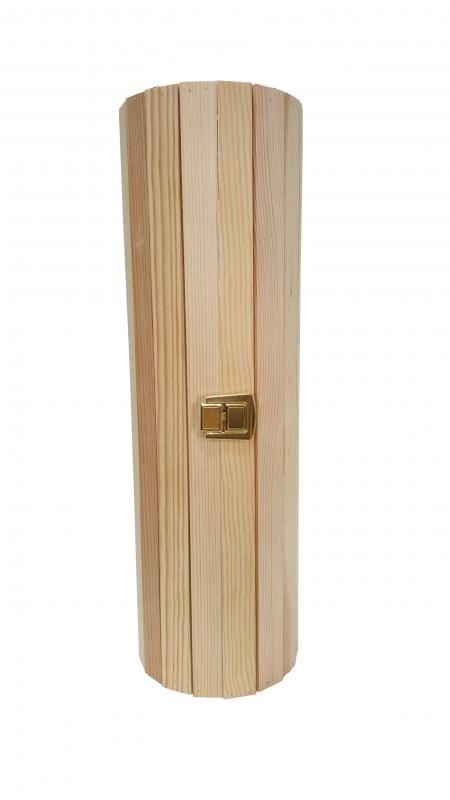 Cutie cilindrica sipci lemn cu inchizatoare