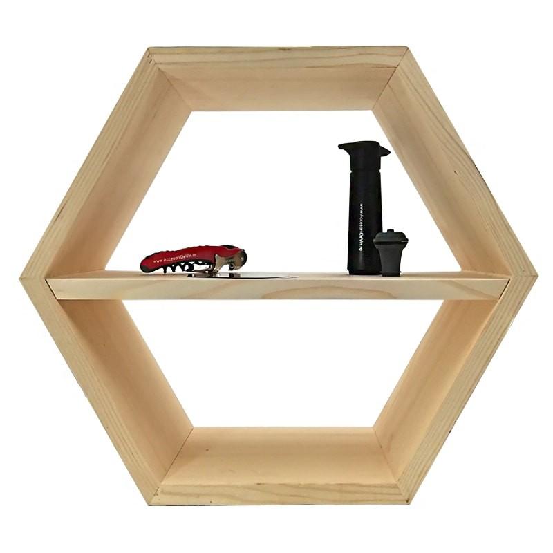 Raft hexagonal cu polita interioara