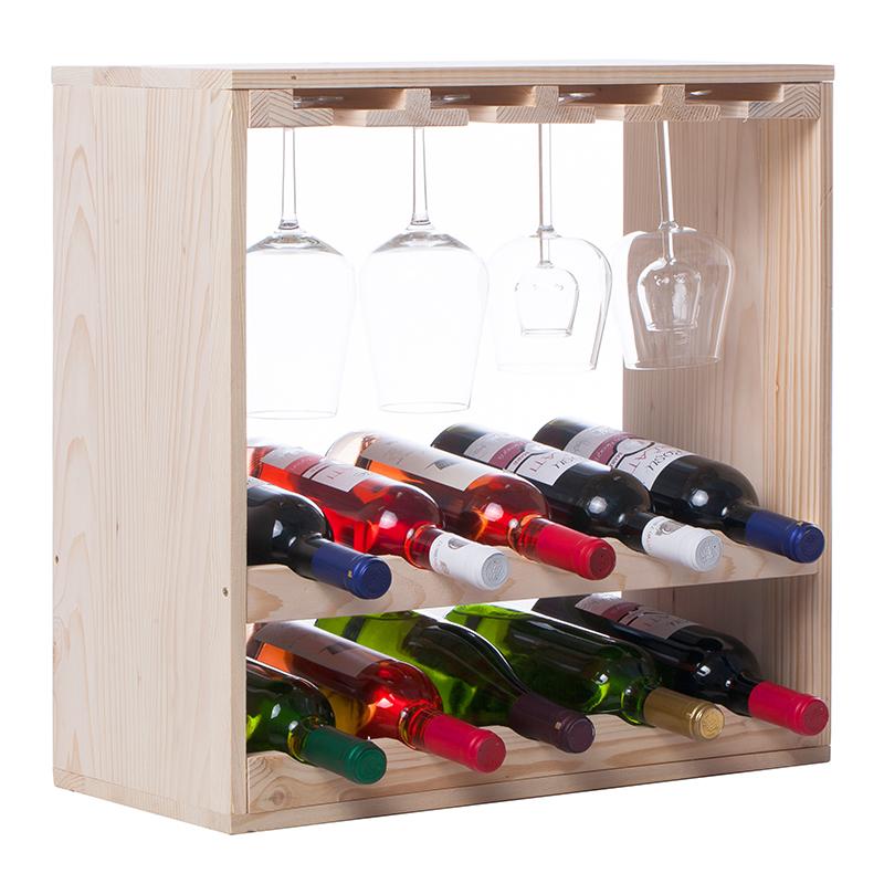 Raft natur CubX combinat 10 sticle vin
