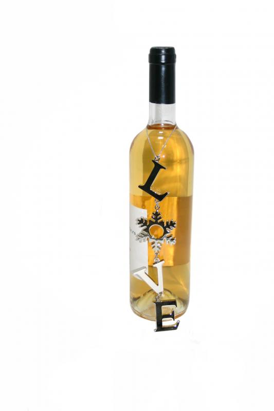 Decoratiune sticla vin Love