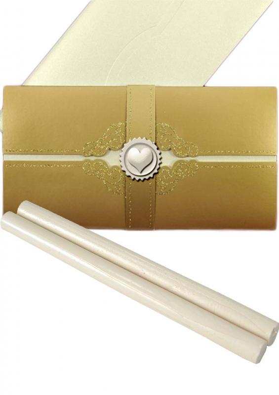 Baton ceara alb perlat pentru sigilii
